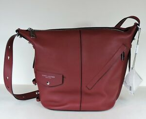 a6aaa31cf268 New Marc Jacobs The 3 Ways Sling Convertible Cabernet Leather Hobo ...