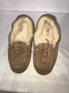 Ugg-Australia-Ladies-Chestnut-Leather-Slippers-Uk-5-5-5-Ref-Ba17
