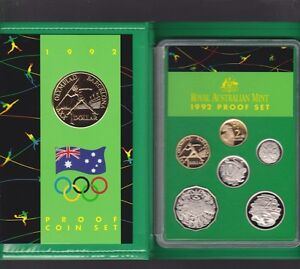 1992-Australia-Proof-Coin-Set-in-Folder-with-outer-Box-amp-Certificate