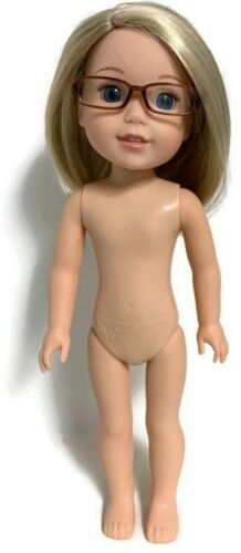 """Brown Rectangular Glasses fits 14.5/"""" American Girl Wellie Wishers Doll Clothes"""