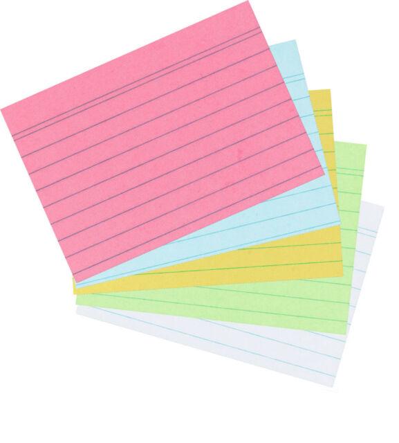 100 Herlitz Karteikarten A6 liniert rosa Lernkarten Lernkartei Karten