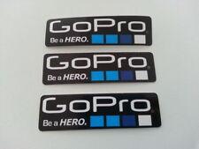 GOPRO Aufkleber Set 3 Stk. schwarz Actionkamera Patch Go Pro