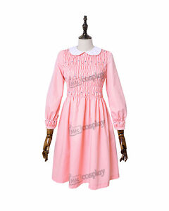 Details about Plus Size Stranger Things Eleven Dress Women Girl Pink Long  Sleeve Dress Costume