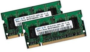 2x-1GB-RAM-Speicher-Fujitsu-Siemens-AMILO-M7440G-Pa1510-Samsung-DDR2-667-Mhz