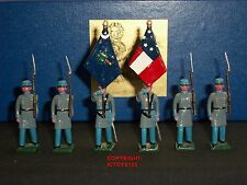 BLENHEIM SOUTH CAROLINA VOLUNTEERS COLOUR PARTY METAL TOY SOLDIER FIGURE SET