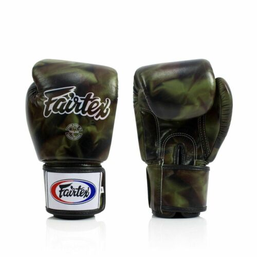 FAIRTEX NEW DESIGN BGV1 CAMOUFLAGE MUAY THAI BOXING MMA K1 GLOVES EXPRESS SHIP