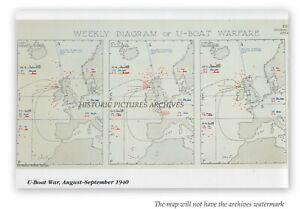 Map Of France 1940.Details About German U Boat Activity Britain France 1940 Inc Liverpool Bristol Hardback Map