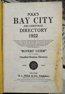 Bay City Michigan 1922 Polk Directory Bay County Essexville Genealogy History