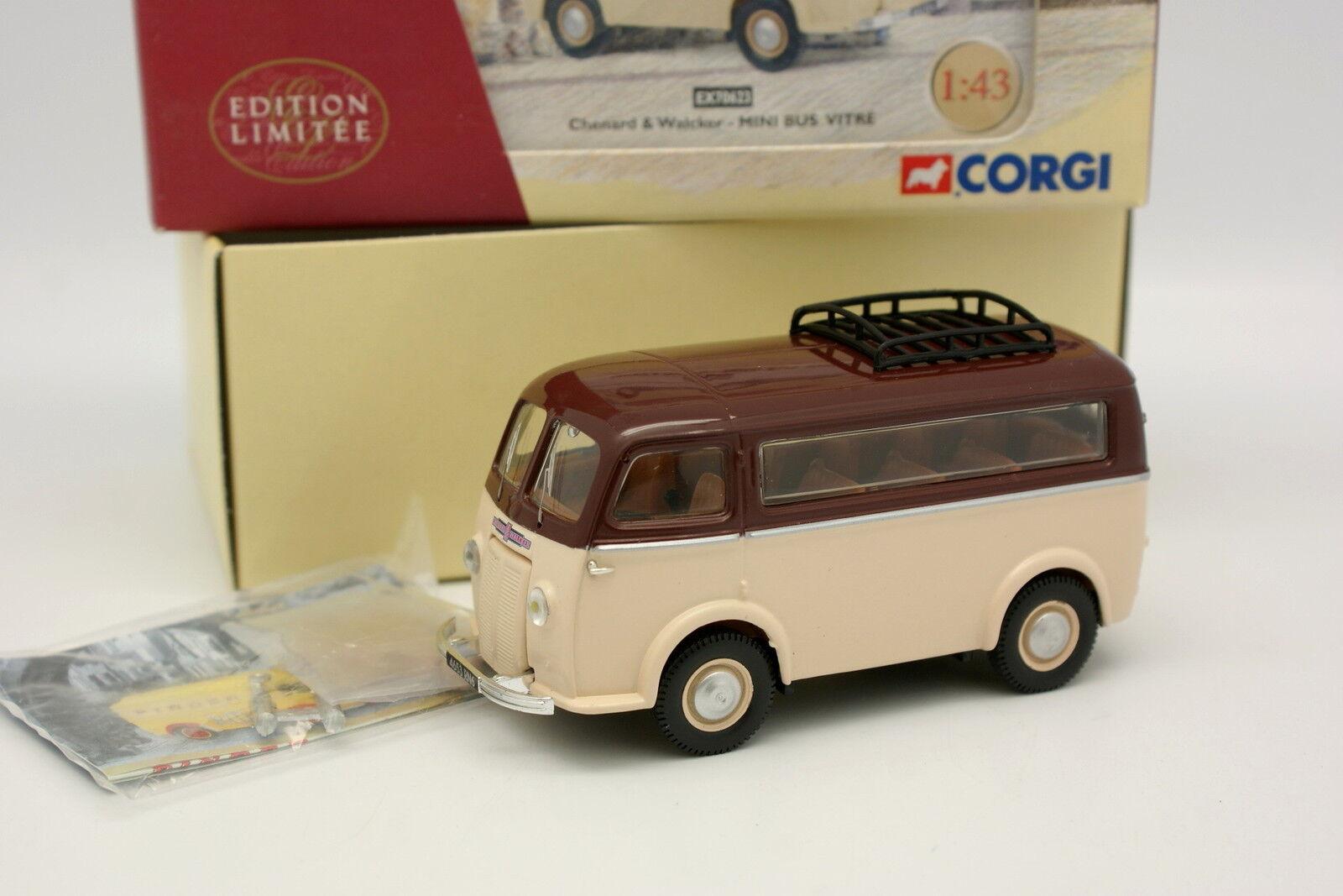 Corgi heritage 1 43 - CHENARD and Walker Mini Bus glass