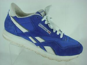 8fd15543eca3af Reebok Classic Nylon Men s Running Casual Shoes Size 7.5 US Blue ...