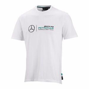 Mercedes benz amg petronas formula 1 white logo t shirt for Mercedes benz t shirt
