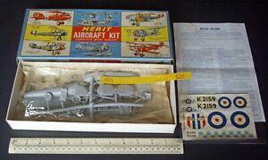 Vintage 1950s Merit (Randall) RAF Bristol Bulldog Inter-War Bi-Plane Fighter 101