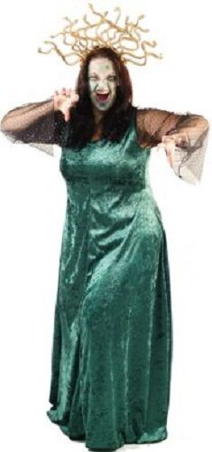 Halloween-Scary-Evil-Myth-Legend-Greek-Fancy Dress MEDUSA COSTUME Ladies Sizes
