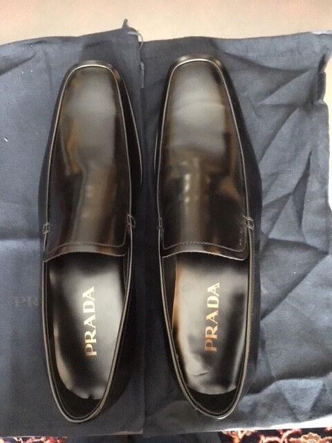 Prada nero Slip-On Men's scarpe New Prada Sz. 8 See measurements