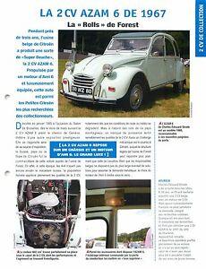 2-CV-Citroen-AZAM-6-Belgique-Luxe-Moteur-Ami-6-Belge-1967-Car-Auto-FICHE-FRANCE