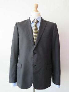 2 BUTTON Dark blue 75/% Wool blazer jacket size xl  42
