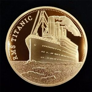 RMS-Titanic-In-Memory-of-Titanic-The-Voyage-of-Titanic-Gold-Plated-Coin