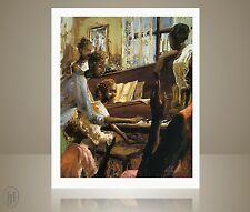 """African American Art - John Holyfield - """"In the Key of Family"""" - Lithograph"""