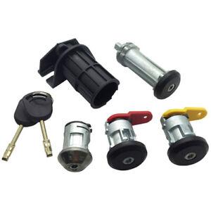 Fits Ford Courier Escort Fiesta Ka Complet 4 Lock Set + 2 Clés Portes Allumage-afficher Le Titre D'origine Attrayant Et Durable
