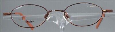 100% QualitäT Optikergestell 1221 Orange Kupfer Flextan Brille Brillengestell
