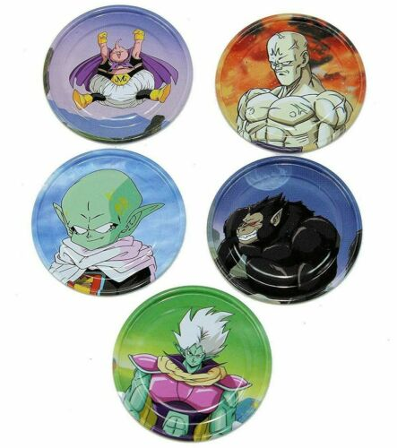 DRAGONBALL Z DRAGON BALL 5 x METAL GLIDERS IN EACH PACK 5 PACKS NEW SEALED