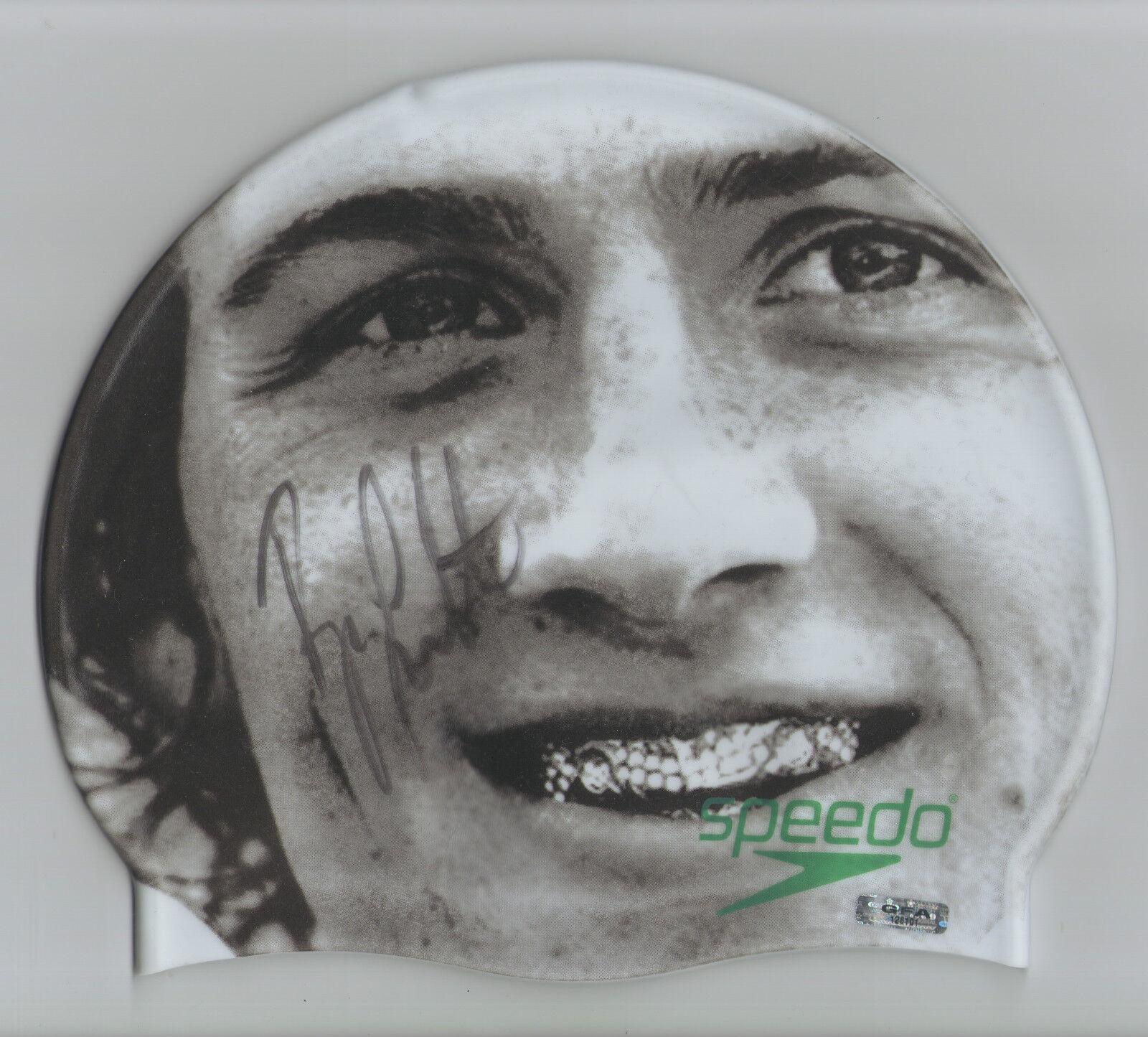 Ryan Lochte Etats-Unis Olympique Nageur Signé Speedo Bonnet de Bain R1 Coa GFA