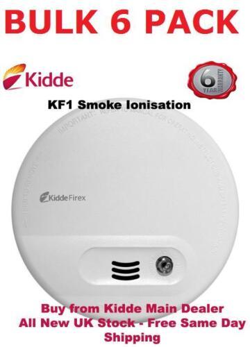 Pack of 6 Kidde KF10 Ionisation Mains Smoke Detectors Alarms was Firex 4870