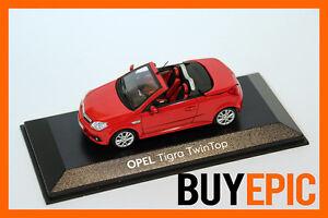 Minichamps-Opel-Tigra-B-Twin-Top-1-43-Magmarot-Modellauto-OVP