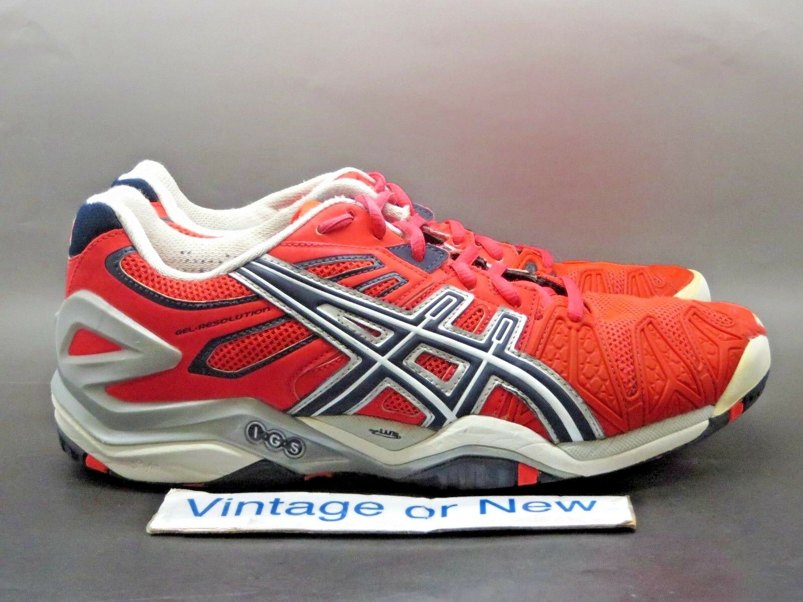 Women's Asics Gel-Resolution Diva Pink Eclipse Lighting Tennis E350Y sz 9.5