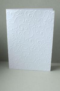 Details Zu 10 Karten Weiß Geprägt Hochzeit Geburtstag Taufe Kommunion Konfirmation Basteln