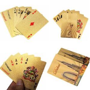 jeux-de-table-don-plaque-or-au-poker-impermeables-a-l-039-eau-les-cartes-a-jouer