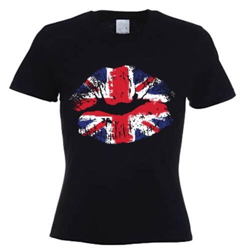 United Kingdom England Flag Holiday UK GB UNION JACK LIPS WOMEN/'S T-SHIRT