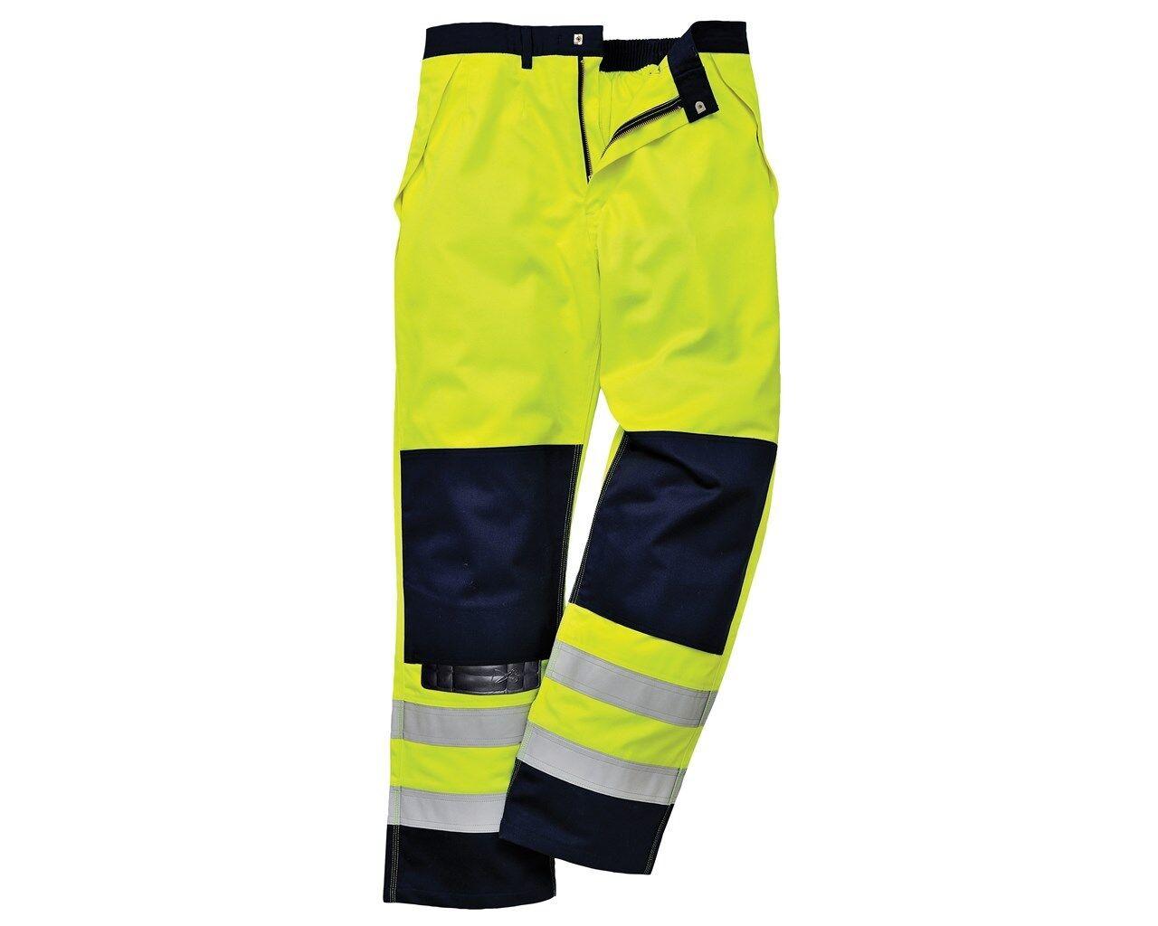 Portwest Hi-Vis Pantaloni Multi-Norm-FR62-Dimensioni XXL vita 42-44    Gamba 31  136678