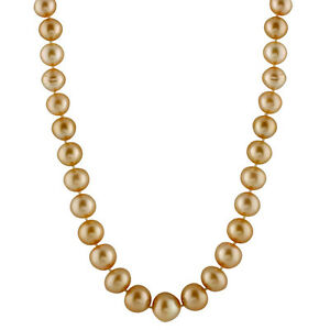 14K Gold 18'' necklace with 10-13mm South Sea pearls.