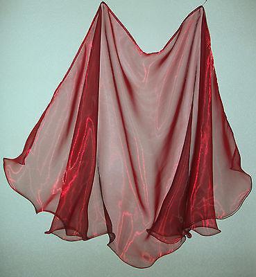 La Danza Del Ventre Velo Danza Del Ventre Velo Organza Nuovo Rosso/nero 2,40m X 1,10m-ier Organza Neu Rot / Schwarz 2,40m X 1,10m It-it Long Performance Life