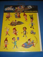 Planche D'autocollants Stickers Jimmy Neutron Éditions Hemma 100% Neuf Jaune