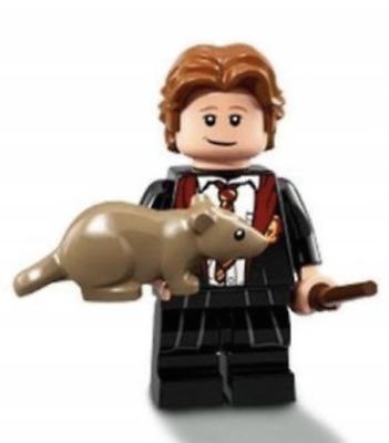 LEGO MINIFIGURE FIGURINE SERIE HARRY POTTER N° 3 RON WEASLEY ET SON RAT CROUTAR