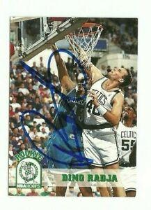 Dino Radja 1993-94 Hoops signed auto autographed card Celtics