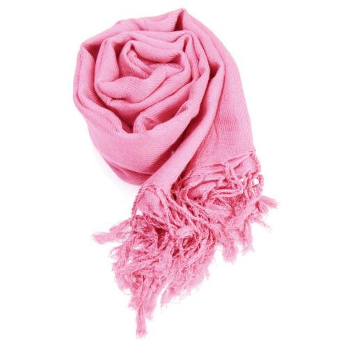 PASHMINA Sciarpa 100/% Viscosa Tinta Unita Wrap scialle stola Foulard molti colori disponibili