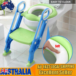 Non Slip Toilet Seat Ladder Baby Toddler Potty Training Step Trainer Safety Bj