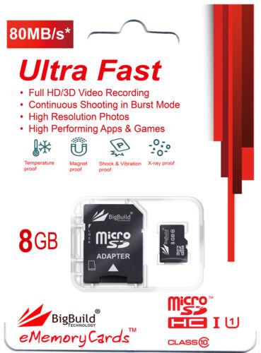 8GB Class 10 70MB MicroSD Memory Card For Sony Xperia Tipo E1 J L M SP T Mobile