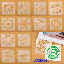 12x Craft Painting Template Stencils Simple Scrapbooking Mandala Auxiliary WX