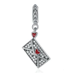 Fashion 925 Silver Crystal lette S Charm European Beads Fit Necklace Bracelet !!