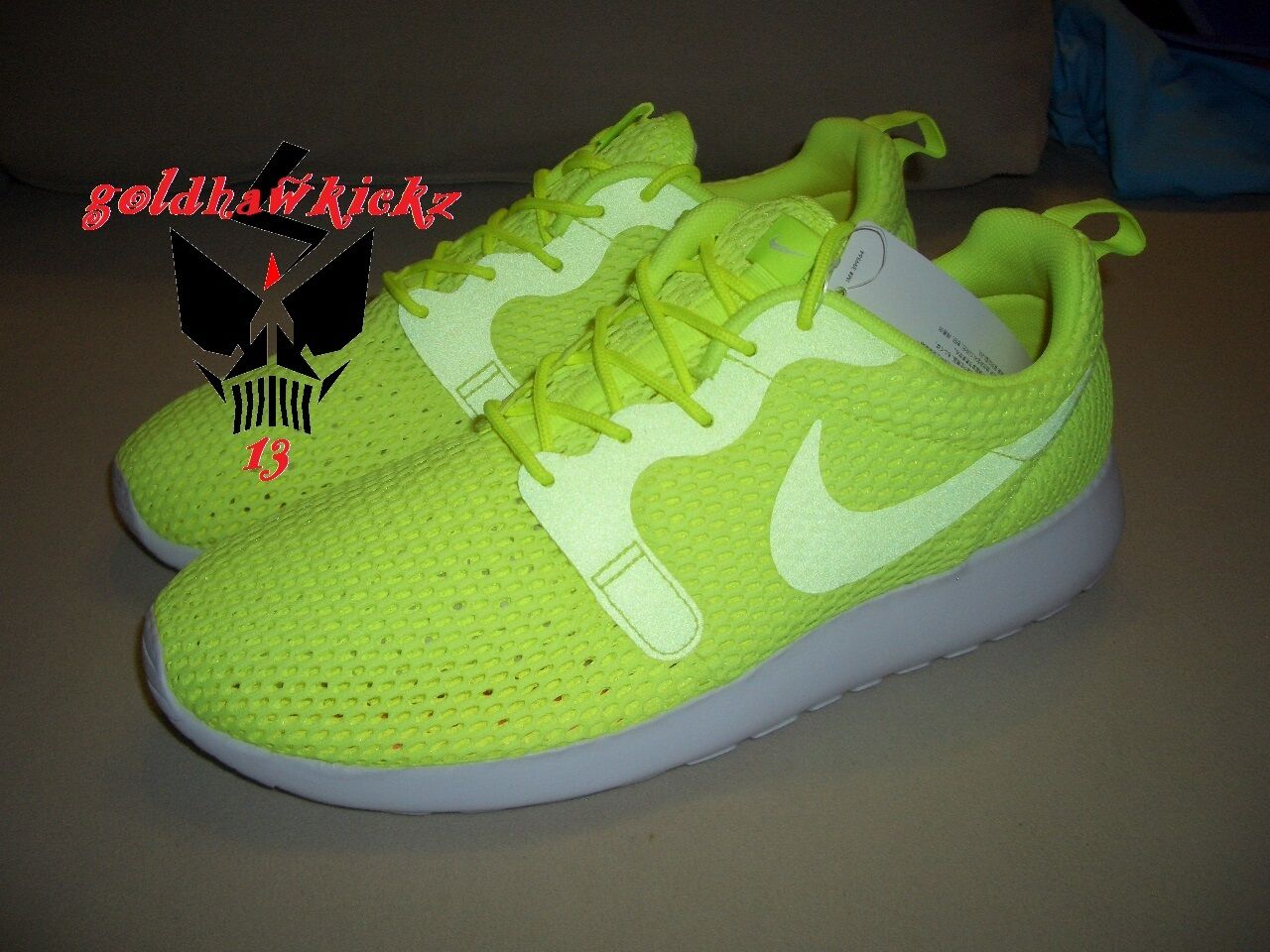 5838c2f9a9bb ... Nike Roshe One One One Hyp BR Breathe Hyperfuse 833125 700 volt 3M men  running shoes ...