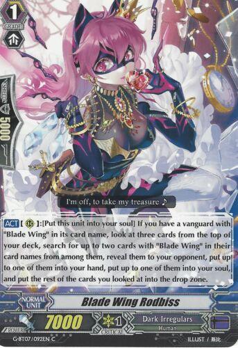 CARDFIGHT VANGUARD CARD BLADE WING RODBISS G-BT07//092EN C