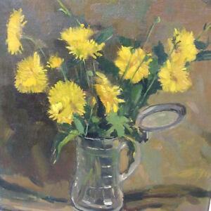 Keller-Adolphe-1880-1968-Bruxelles-Still-Life-Blumen-Stilleben-Glasbierkrug
