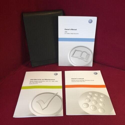 2015 Volkswagen VW Jetta Original Owners Manual set with case