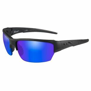 eed5296e3fe Image is loading Wiley-X-Saint-Sunglasses-Polarized-Blue-Mirror-Lens-