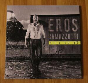 ORIGINAL-Autogramm-von-Eros-Ramazzotti-Auf-VINYL-12-034-034-VITA-CE-NiE-034-Selten