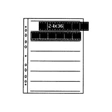 KAISER 2535 CLEAR 35MM NEGATIVE STORAGE FILING PAGES NEG SHEETS 25 K2535